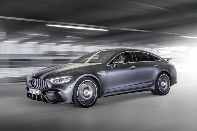 Mercedes-AMG GT 63 S 4MATIC+ Edition 1; Exterieur: designo graphitgrau magno; Interieur: AMG Performance Sitze, magmagrau/schwarz mit gelben Ziernähten;Kraftstoffverbrauch kombiniert: 11,2 l/100 km, CO2-Emissionen kombiniert: 256 g/km*  Mercedes-AMG GT 63 S Edition 1 ); exterior: designo graphite grey magno; interior: AMG Performance seats, magma grey/black with yellow stichings;fuel consumption, combined: 11.2 l/100 km, combined CO2 emissions: 256 g/km*
