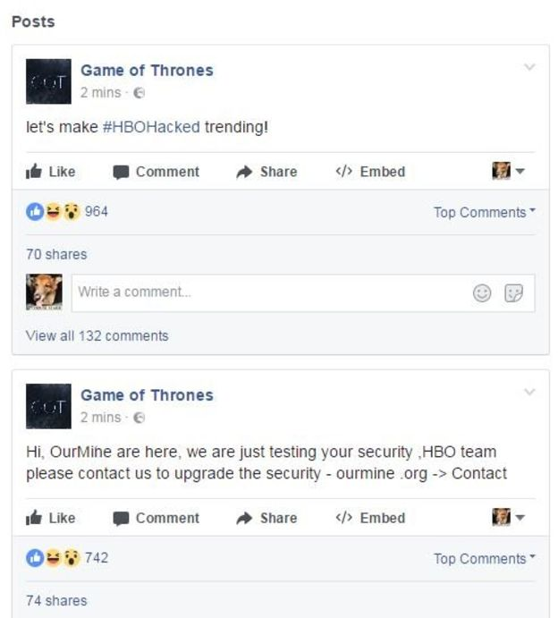 HBO hacking woes continue: this time on social media