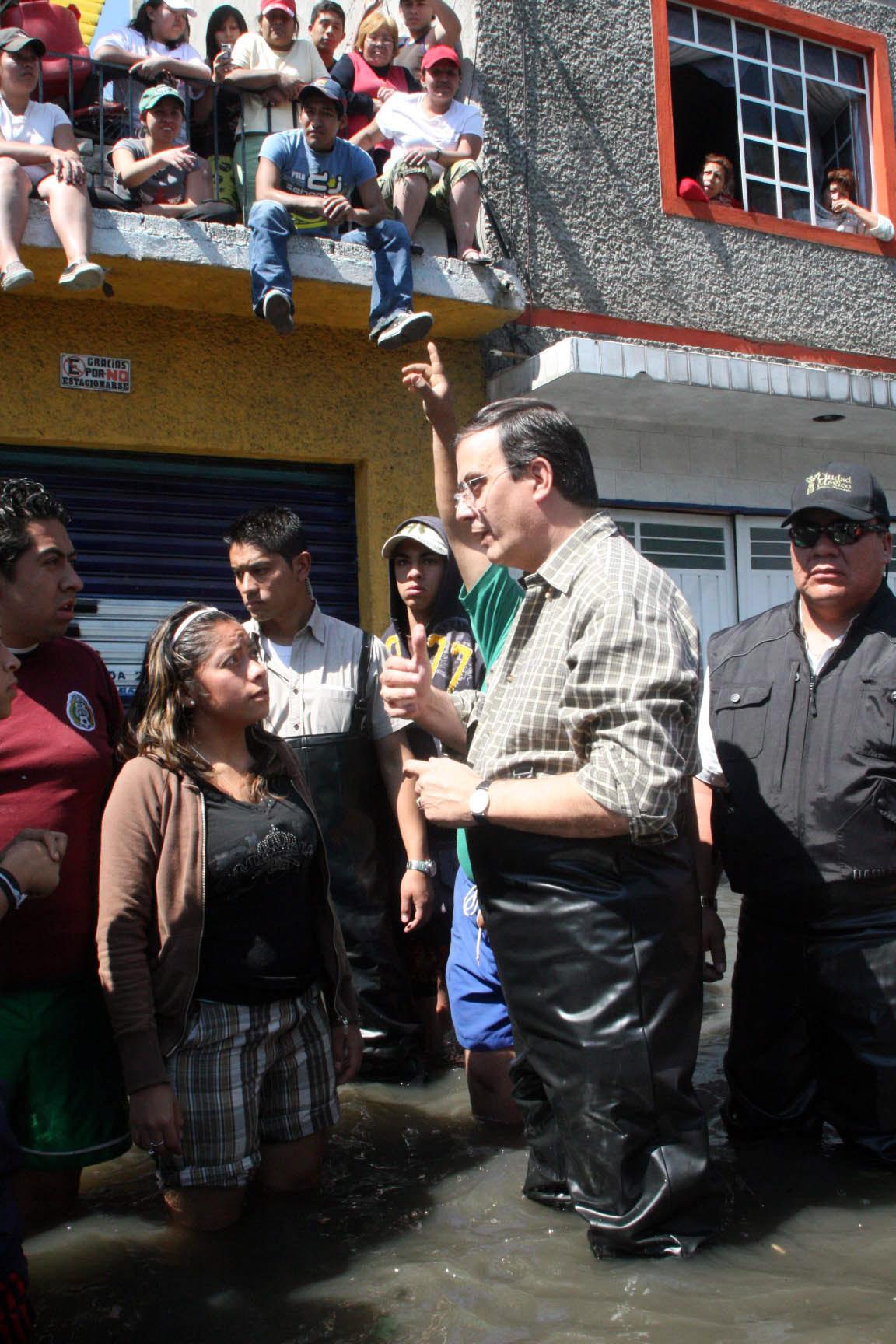 6 de febrero de 2010. Marcelo Ebrard, jefe de Gobierno del Distrito Federal, realizó un recorrido en...
