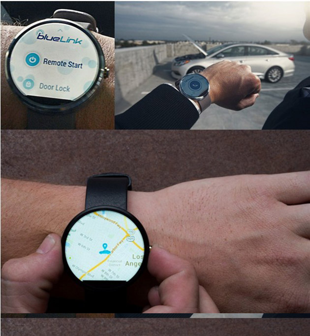 hyundai lets owners control their cars with smartwatches. Black Bedroom Furniture Sets. Home Design Ideas