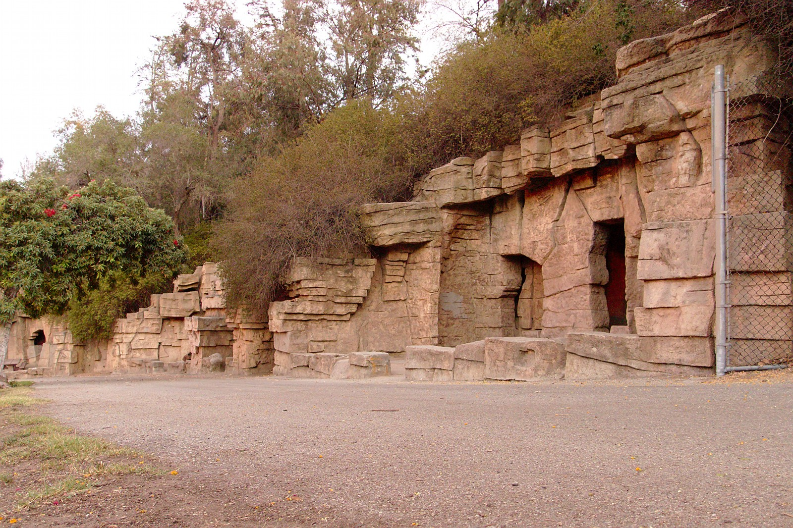 Old remnants of the Griffith Park Zoo, Los Angeles
