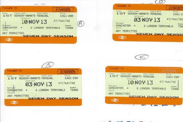 Mark Mason's forged tickets.