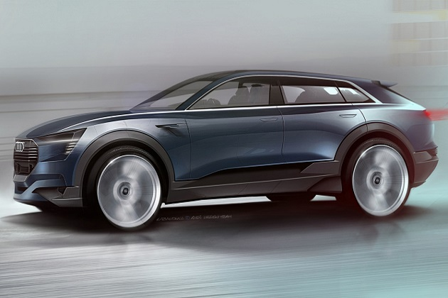 アウディ、2018年に市販化するスポーティな電気自動車SUVのコンセプトをフランクフルトで発表