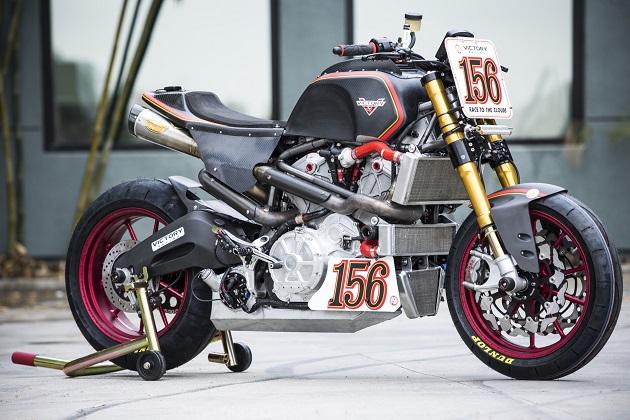 ヴィクトリーとローランド・サンズがコラボしたパイクスピーク参戦バイク「プロジェクト156」