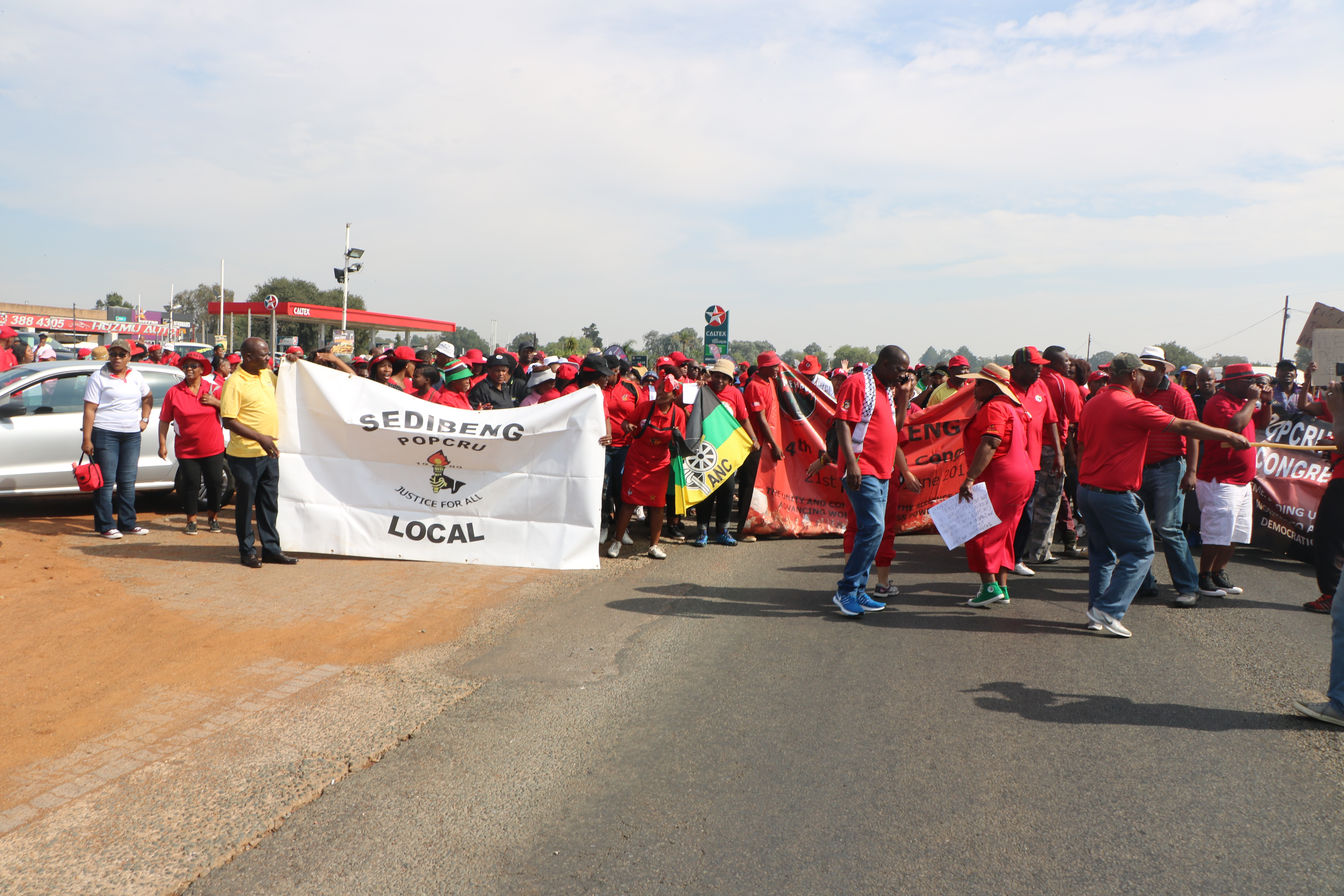 Sadtu And Allies March On Hoërskool Overvaal With