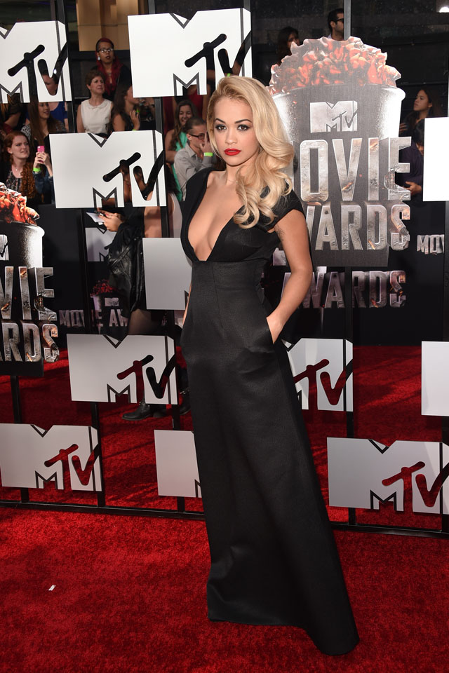 LOS ANGELES, CA - APRIL 13:  Recording artist Rita Ora attends the 2014 MTV Movie Awards at Nokia Theatre L.A. Live on April 13, 2014 in Los Angeles, California.  (Photo by Jason Merritt/Getty Images for MTV)