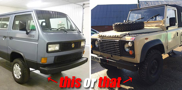 This or That - VW Vanagon Syncro vs. Land Rover Defender