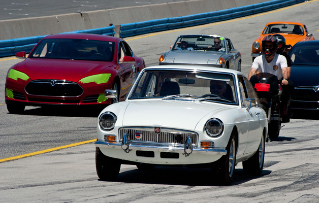 Classic MG conversion set for Refuel 2014 parade lap.
