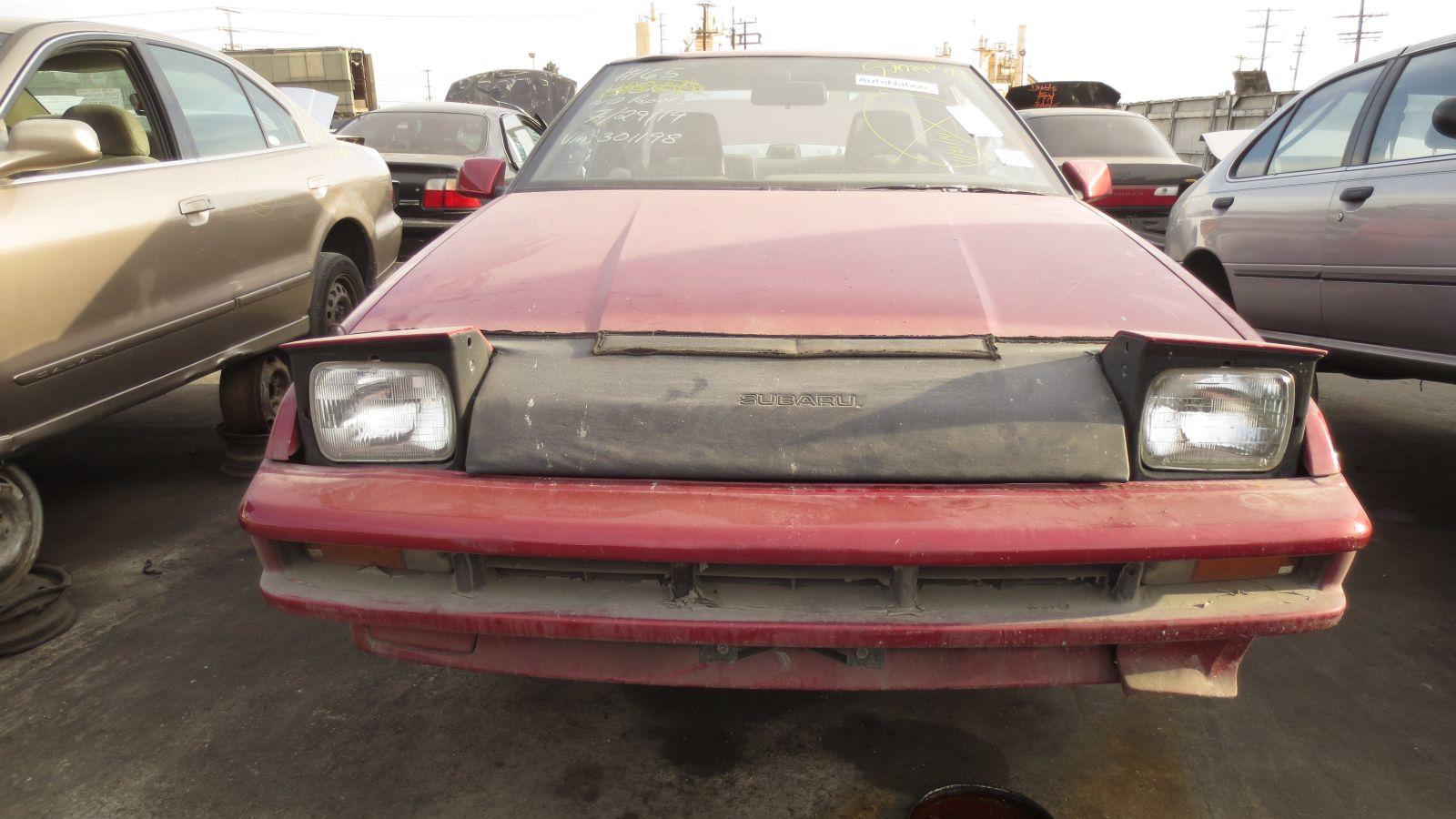 1990 Subaru XT in California wrecking yard