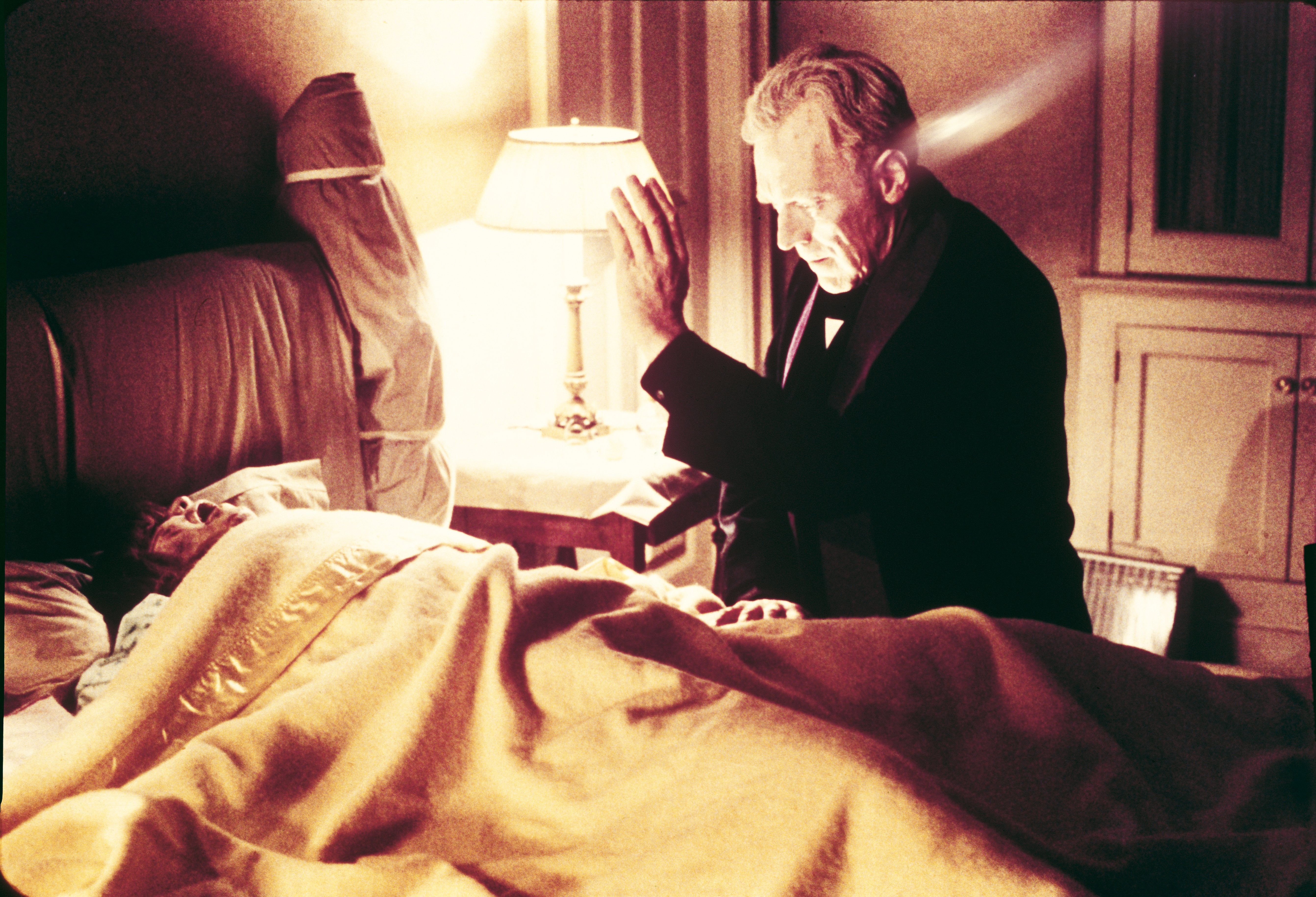 Linda Blair and Max von Sydow in The Exorcist