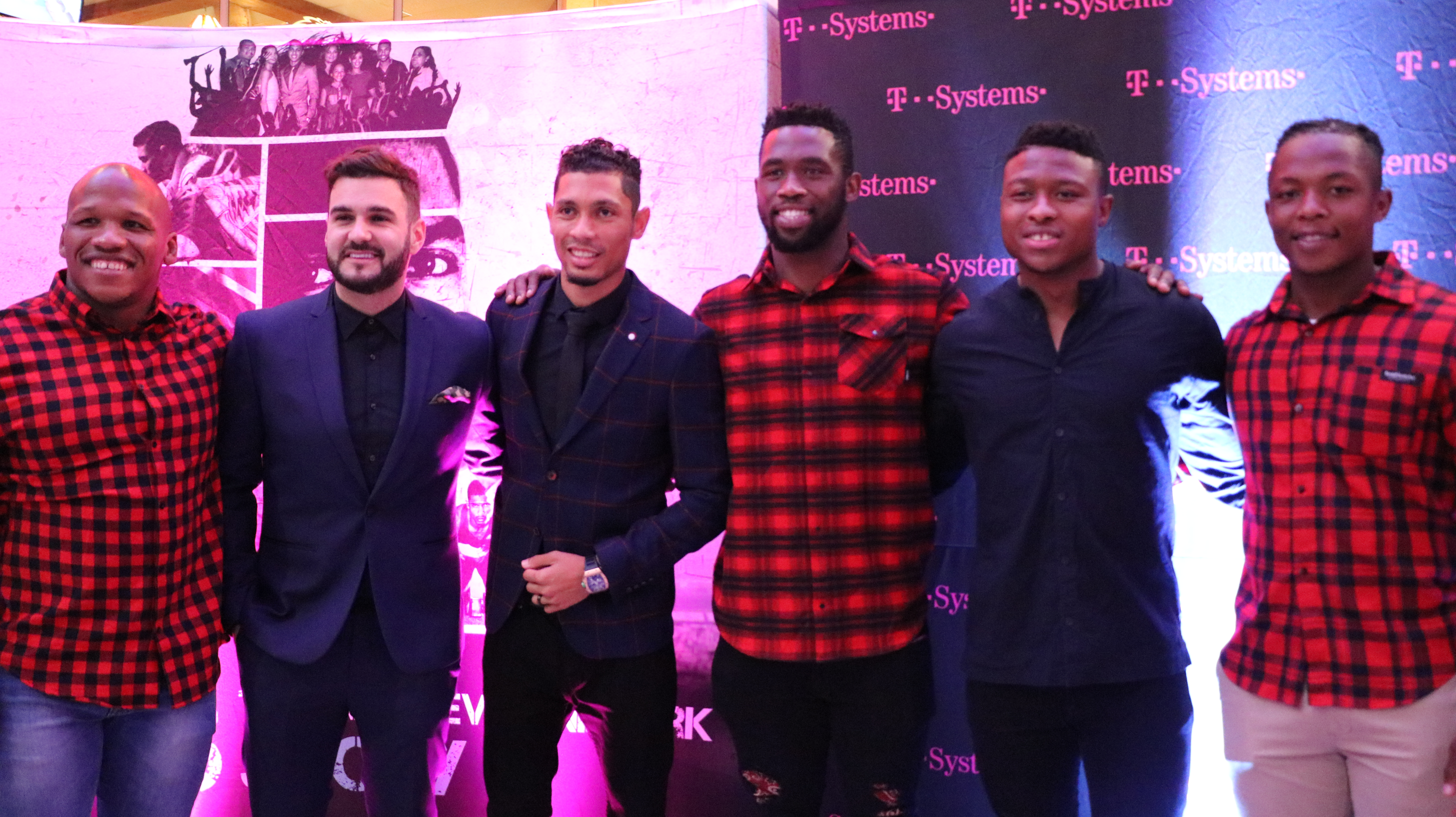 SA celebrities from the sport and entertainment sectors joined Van Niekerk at the