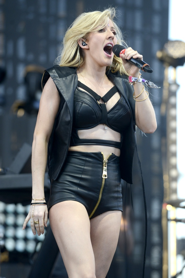 INDIO, CA - APRIL 11:  Ellie Goulding performs at The Empire Polo Club on April 11, 2014 in Indio, California.  (Photo by Tim Mosenfelder/WireImage)