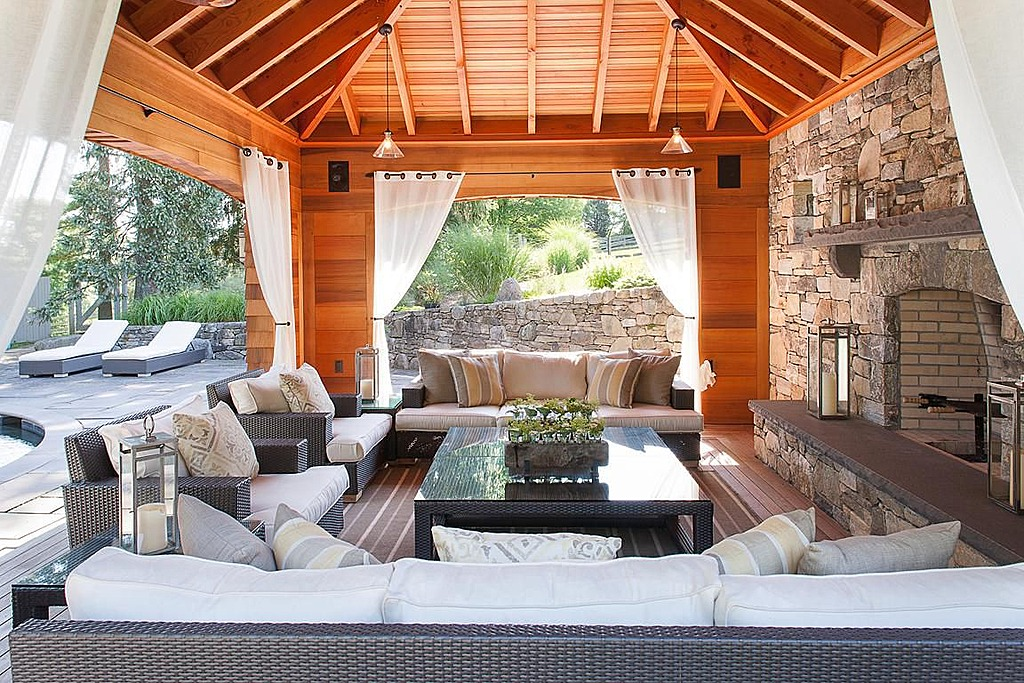 furnished outdoor living room