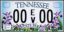 State of tennessee environmental license plate