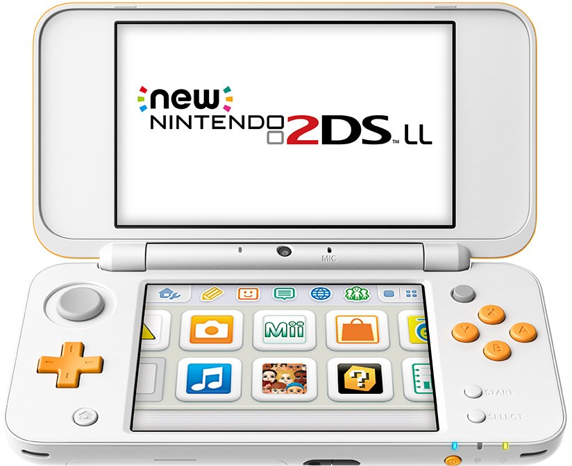 Nintendo Japan 2DS XL in white/orange