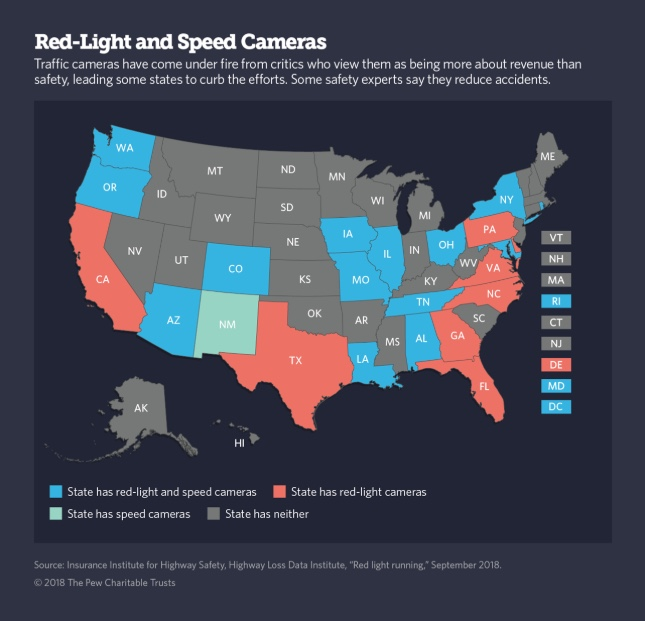Hated red-light and speed cameras torn down by some states, cities
