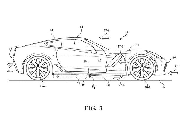 ミドシップの次期型シボレー「コルベット」に採用か!? GMがアクティブ・エアロダイナミクスの特許を申請