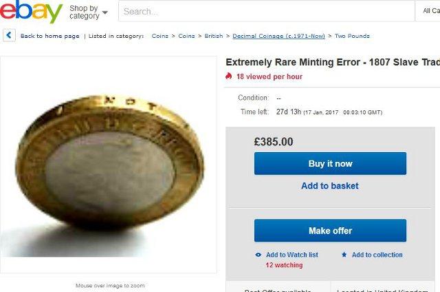 Madison : 2 pound coin 1807 error