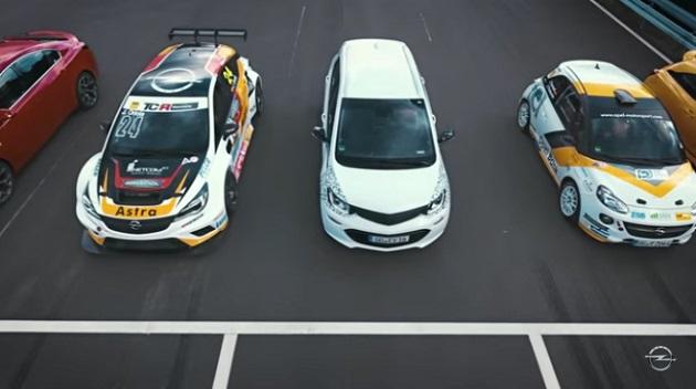 【ビデオ】オペル「アンペラe」、自社広告のドラッグレースで他のオペル車を打ち負かす