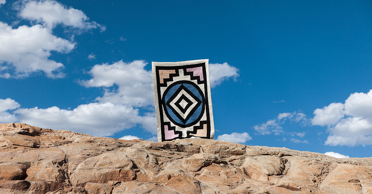 The Sankara Rug won the title of 'Most Beautiful Object in South Africa' at Design Indaba
