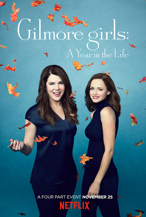 gilmore girls, a year in the life, netlfix, posters, seasons, rory, lorelai