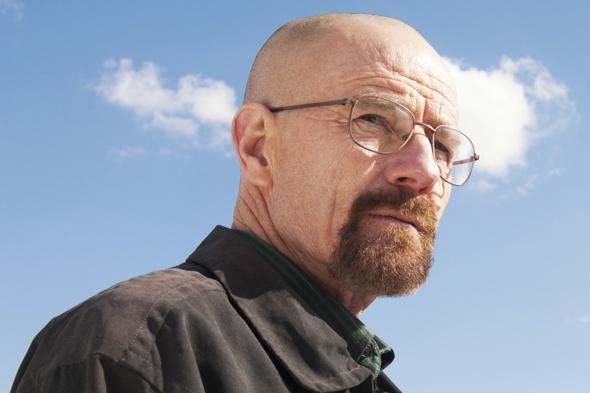 Devon rock face looks like Walter White from Breaking Bad