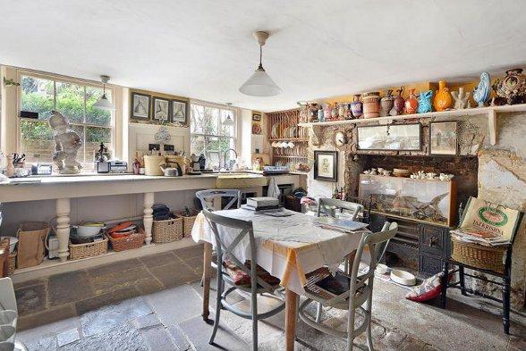 The kitchen at Malplaquet House