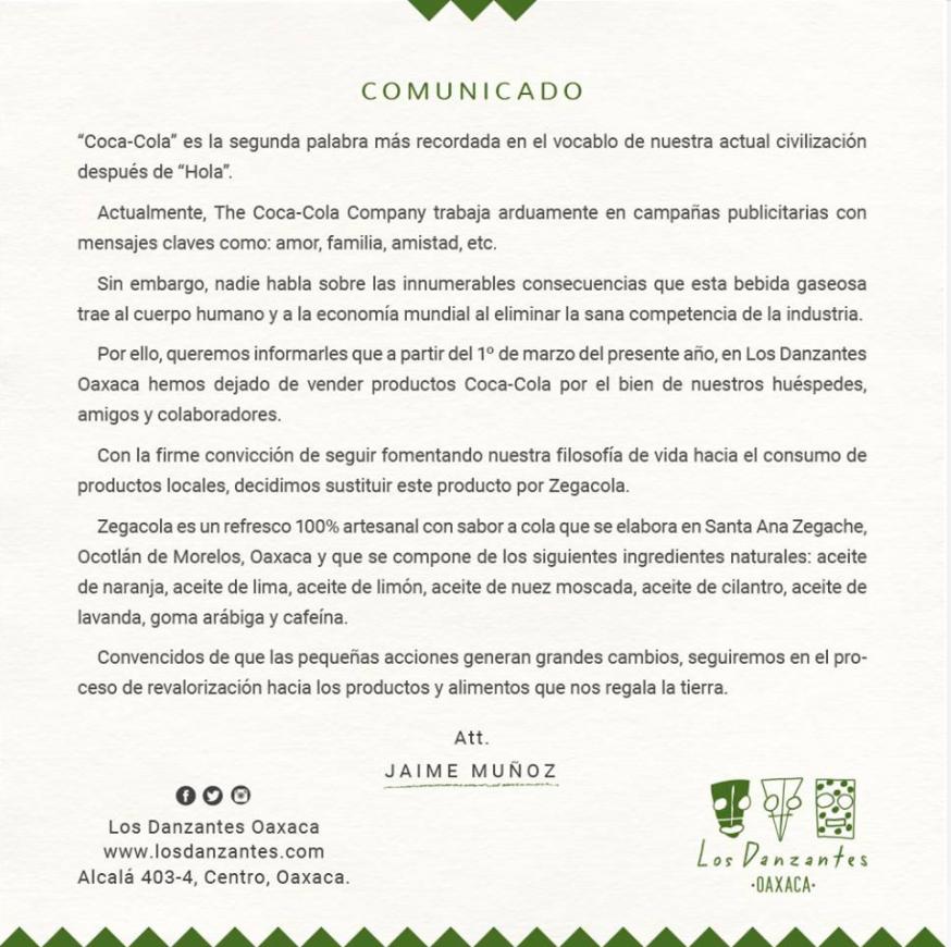 El restaurante mexicano que deja de vender