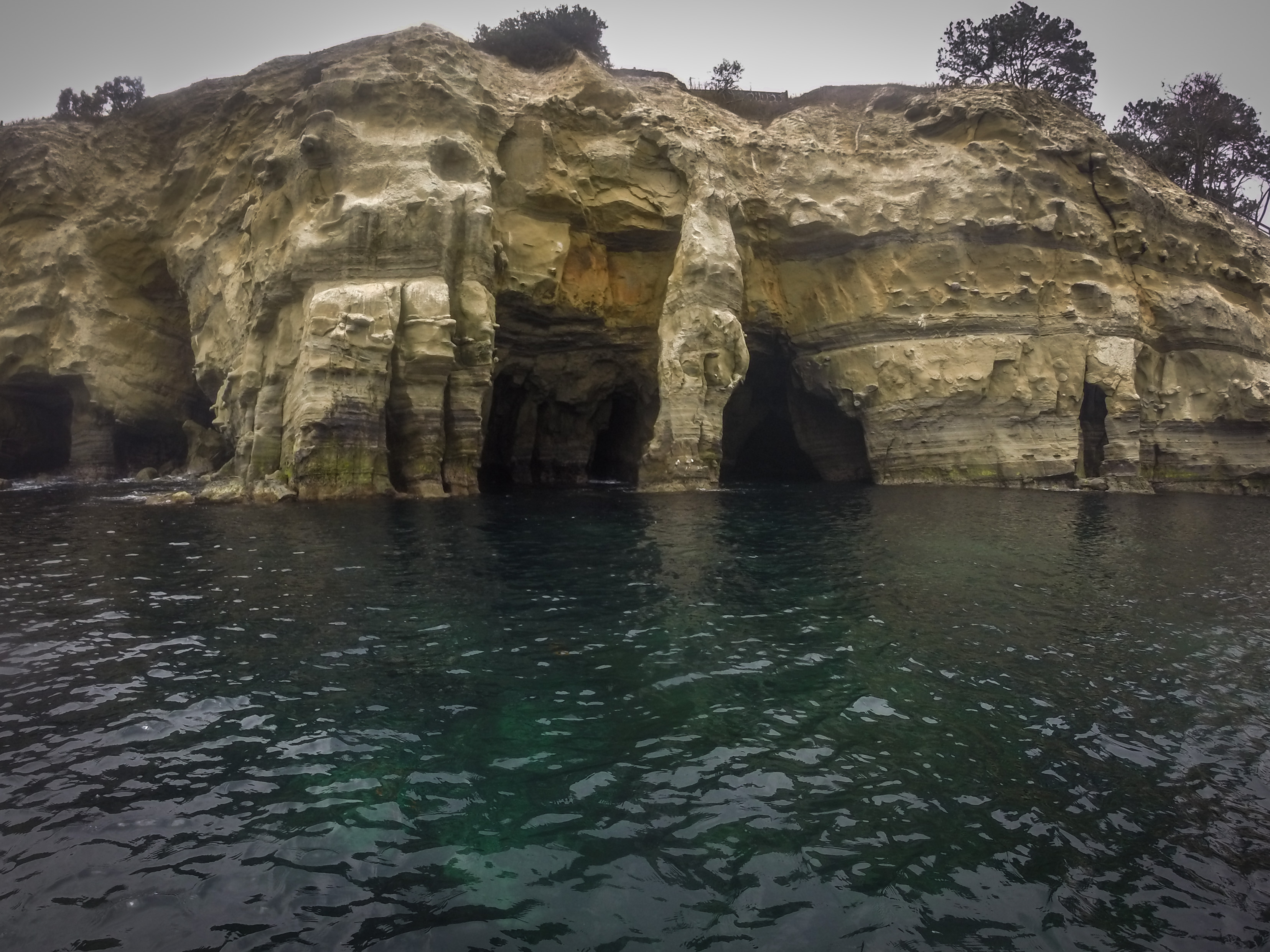 The caves near La Jolla Cove