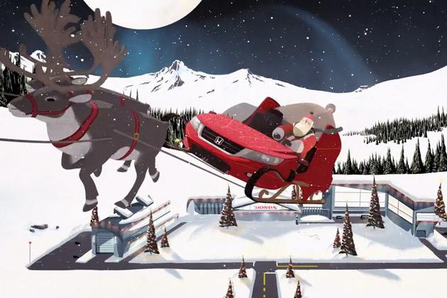 【ビデオ】もしもホンダが、サンタクロースに最新技術を備えたソリを作ったら?