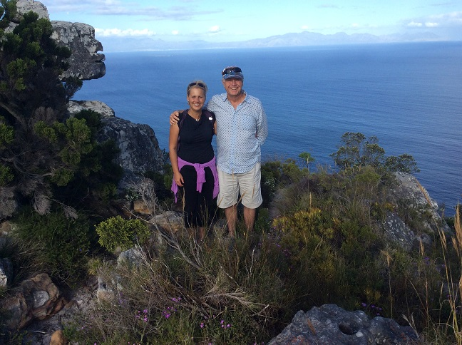 With my Uncle John, above Cape Town last October. While the Cape Peninsula is surrounded by ocean, nearly...