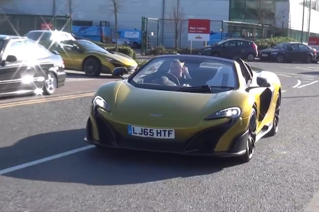 【ビデオ】マクラーレンの限定モデル「675LTスパイダー」が、2台で公道を走る姿をキャッチ!