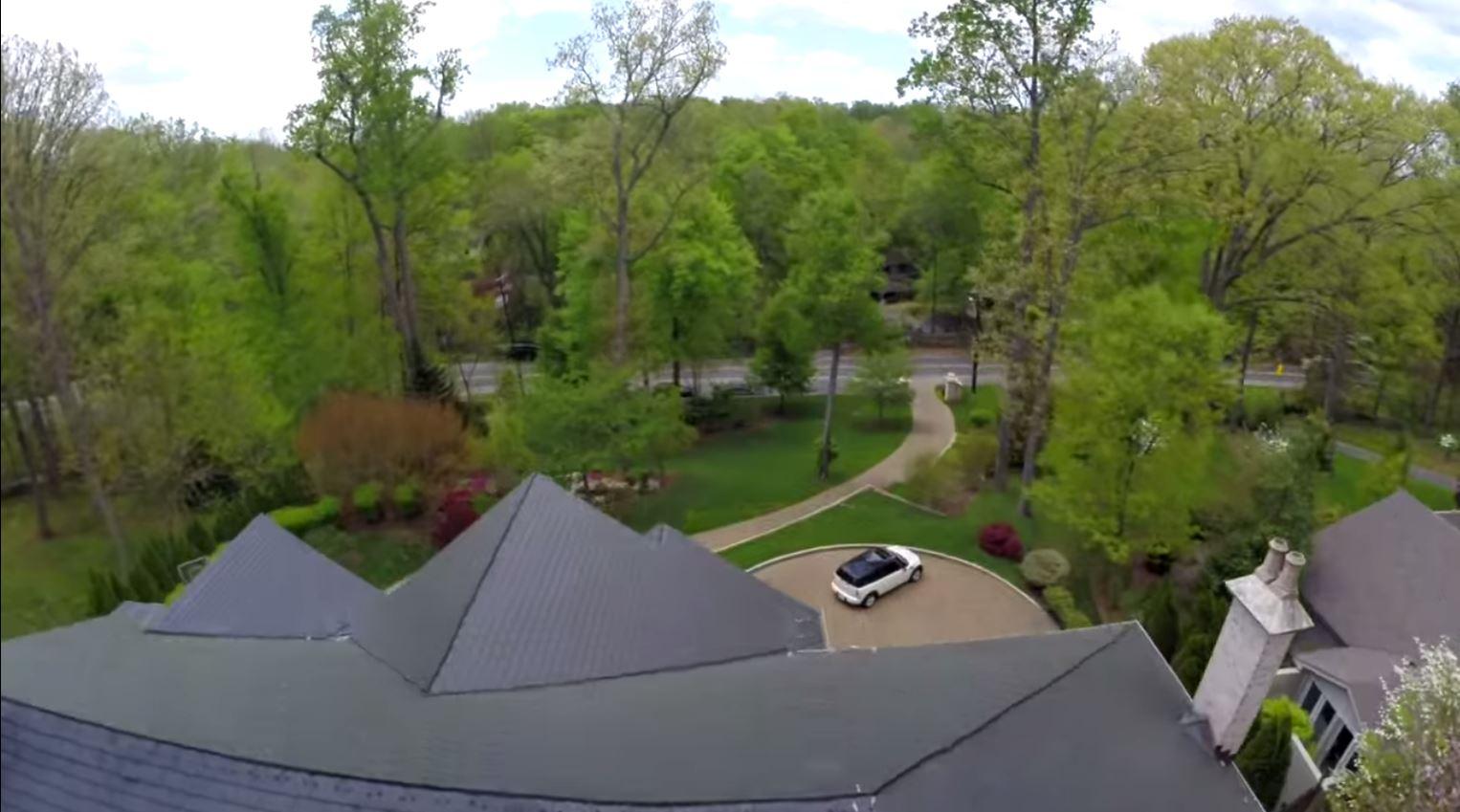 roof of Bethesda Maryland house