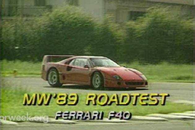 【ビデオ】1989年型フェラーリ「F40」を当時の試乗映像で振り返る