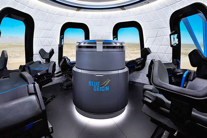 Blue Origin offers a look inside its tourist rocket's capsule