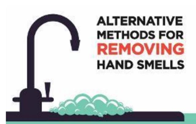 Alternative methods for removing hand smells