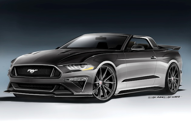 This 2018 Ford Mustang GT Convertible features the best of both worlds, with modern performance and powertrain options such as carbon fiber aero touches and updated suspension and powertrain enhancements. The classic American roadster theme is evoked with handmade trim, brushed aluminum accents, and an all-leather Bomber Brown interior. This striking automobile features a carbon fiber roll bar with aluminum trim. The tonneau cover is a modern throwback to classic speedsters and racecars from the 1930's.