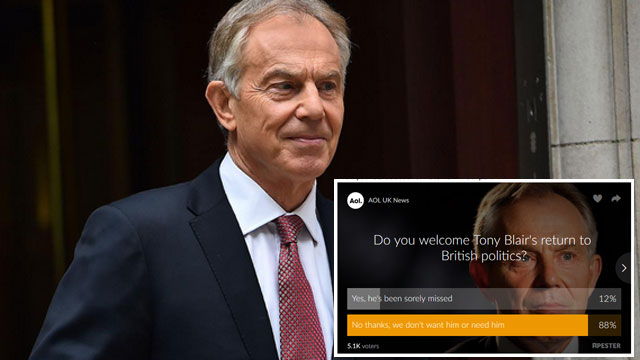 Tony Blair poll result