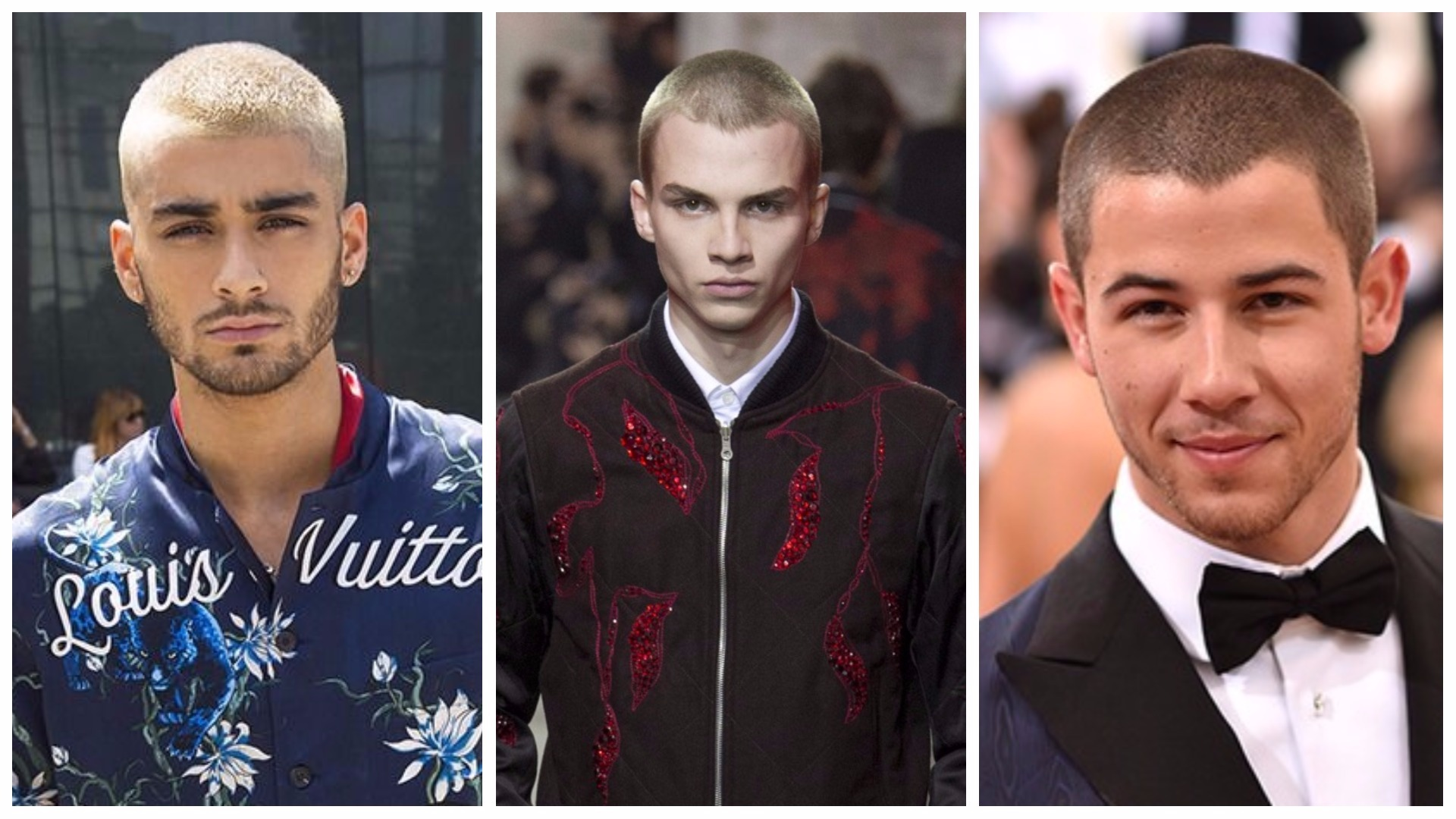 Coupe de cheveux pour hommes avec la sГ©paration au milieu