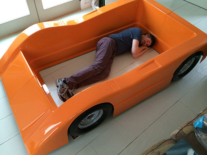 the story behind the bruce meyers racecar bed autoblog. Black Bedroom Furniture Sets. Home Design Ideas