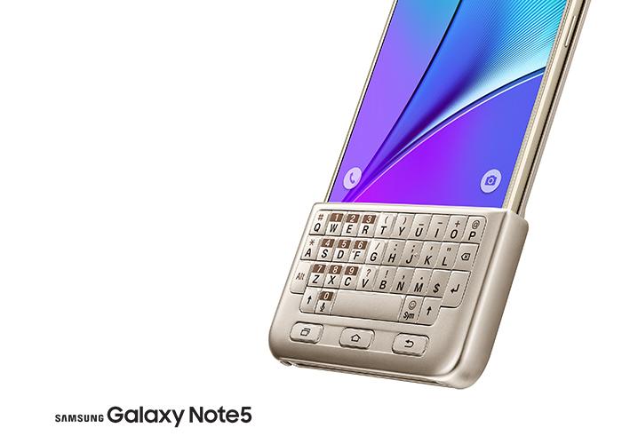 三星 Galaxy Note 5 也有个实体键盘可用了!
