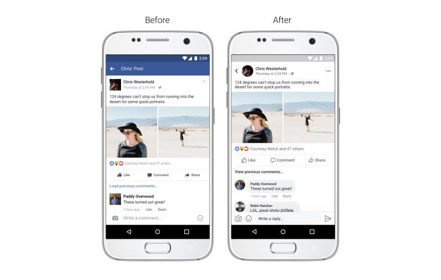 Facebook 的動態時報會稍稍變得好看一點