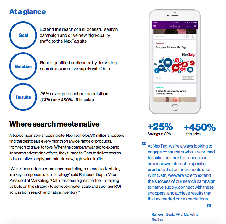 Case study: Nextag ad campaign helps shoppers find great deals
