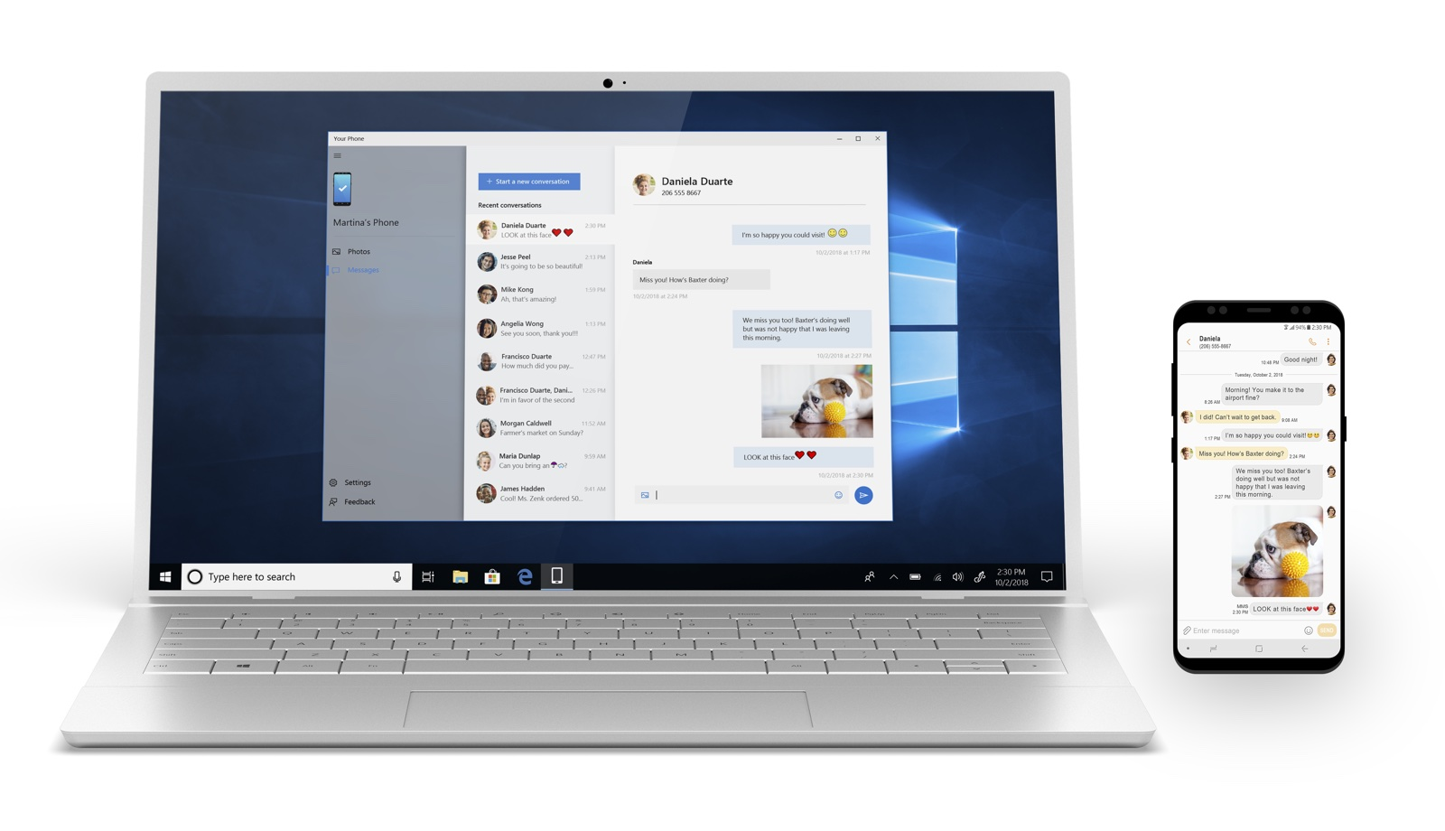 windows 10 pour android