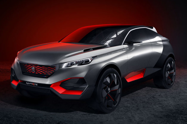 Peugeot\'s new hybrid concept is half SUV, half sports car