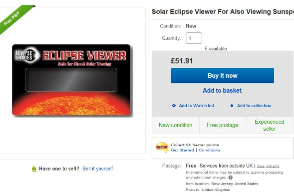 An eclipse viewer for sale on eBay