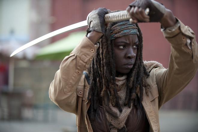 Michonne (Danai Gurira) - The Walking Dead _ Season 4, Episode 16 - Photo Credit: Gene Page/AMC