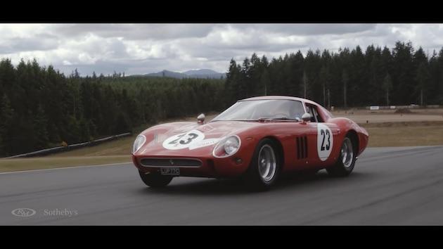 【ビデオ】落札予想価格は50億円以上! 1962年製フェラーリ「250GTO」をせめて動画と写真で観賞しよう