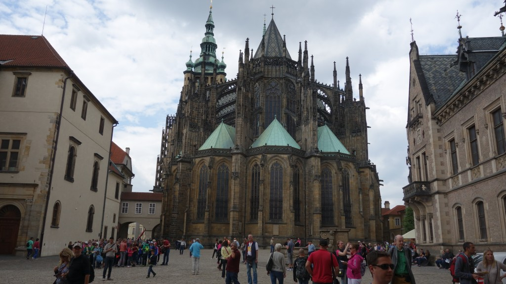Prague, Saint Vitus Cathedral, view from the back