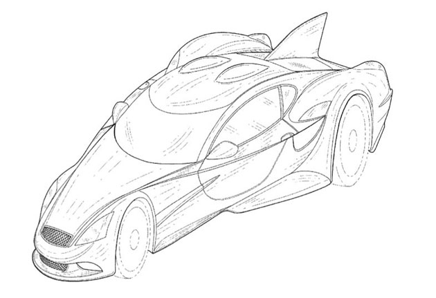 DeltaWing's second street car patent